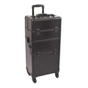 Black Croc Trolley Cosmetic Makeup Case Organiser - I3561
