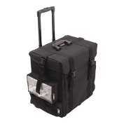 Black Trolley 1680d Nylon Cosmetic Makeup Case - C6024