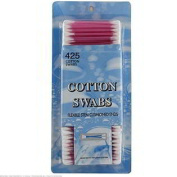 48 Packs of 425 Plastic Double Tipped Cotton Swabs
