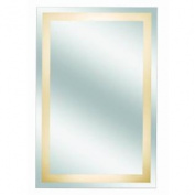Kimball & Young 30001HW Classic Border Design Back Lit Mirror Assembly, 90cm by 60cm , 1X Magnification