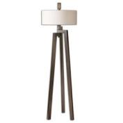 Uttermost Mondovi Modern Floor Lamp in Antiqued Bronze with Gold