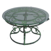 Uttermost Gilbertine Clock Table in Antiqued Light Green