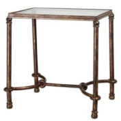 Uttermost Warring Iron End Table in Rustic Bronze Patina