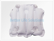 Inflatable Bath Pillow Contoured With Suction Cups