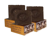 3 x CARIA Pine Tar Olive Oil Soap Bars All Natural Turkish with Cocoa Butter Vegan 330g