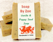 Vanilla & Poppy Seed Traditional & Handmade Cold Process Natural Soap With Coconut Oil & Shea Butter