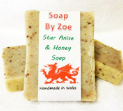 Star Anise & Honey Traditional Handmade Cold Process Natural Soap With Coconut Oil & Shea Butter