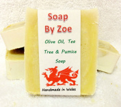 Olive Oil, Tea Tree & Pumice Traditional & Handmade Cold Process Natural Soap
