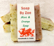 Mint & Orange Traditional & Handmade Cold Process Natural Soap With Coconut Oil & Shea Butter