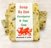 Eualyptus & Sage Traditional & Handmade Cold Process Natural Soap With Coconut Oil & Shea Butter