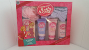 Along Came Betty, All I want with Bath soak, Shimmer Crystals, Body lotion, Hand lotion, headband and shower puff.