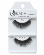 Kara Beauty Human Hair Eyelashes - 20 (Pack of 3) by Kara Beauty
