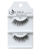 Kara Beauty Human Hair Eyelashes - 48 (Pack of 3) by Kara Beauty