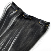 60cm FULL HEAD CLIP IN HAIR EXTENSIONS Clipin Hairpiece LONG STRAIGHT set 150g