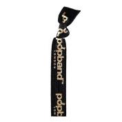 Popband Ponytail Holder, Black & Gold