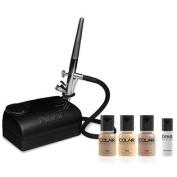 Dinair Airbrush Makeup Kit Basic One Speed Compressor Medium Shades