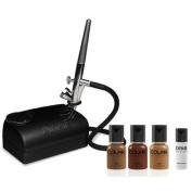 Dinair Airbrush Makeup Kit Basic One Speed Compressor Dark Shades