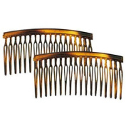 CP836-2 8.9cm . Tortoise Shell Hair Combs 4 & #44; Pack of 4
