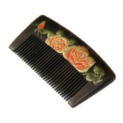 Durable Smooth Hair Comb Natural Wood Comb Anti-static Hair Accessary with Case