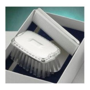Pewter Shield Boy's Comb & Brush Military Set