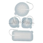 199658-001 Empi Stimcare New Premium 5.1cm . X 5.1cm . Sq. Pigtail Cloth Top & #44; Reusable Electrodes With Aloe Vera Gel 4 Per Pkg