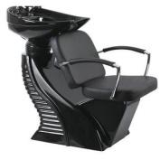 Black Shampoo Backwash Chair Barber Bowl Salon Spa Facial W1
