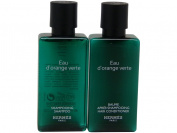 Hermes d'Orange Verte Shampoo & Conditioner lot of 10 (5 of each) 40ml bottles