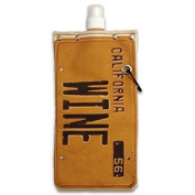 Old California Licence Plate Wine and Beverage Canvas Reusable Flask Bottle & Tote Carrier Holds 750ml/26oz