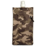 Tote & Able Camouflage Camo Design Water,Wine and Beverage Canvas Reusable Flask Bottle