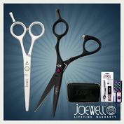 Joewell Black XO 13cm & 7 White Series 14cm Shear / Scissor Duo Combo