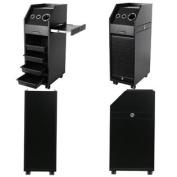 Beauty Equipment Black Salon Colour Trolleys with Sliding Doors 4 x TR-37BLK