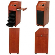 Cherry Pearwood Salon Trolley with Sliding Door TR-37CP
