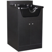 Pearl Black Shampoo Cabinet with Bowl SU-21BLK
