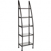 Black Retail Display Stand With Glass Shelves DS-20B-BLK