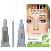 28 Day Eyebrow Colour Light Brown - Gel Colourant Covers Resistant Greys
