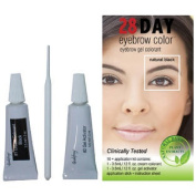 28 Day Eyebrow Colour Natural Black - Gel Colourant Covers Resistant Greys