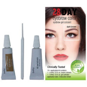 28 Day Eyebrow Colour Dark Brown - Gel Colourant Covers Resistant Greys