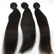 Lanova Beauty Girls' 3Pcs/Lot Best Hair Extensions Peruvian Straight Weft Hair Extensions Size:60cm 60cm 70cm