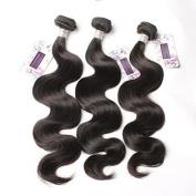 Bella Hair 100% Real Brazilian Body Wave Bundles Hair Extensions Human Virgin Hair Weave 3 Bundles Natural Colour 20cm - 80cm