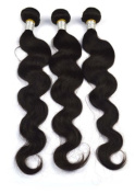 Angel Hair 3 Bundles; Peruvian Virgin Sew In Weft Weave Hair Extension 300 Grammes 4A Grade Quality; Body Wave
