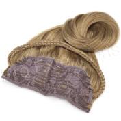 Brybelly #8 Light Brown - 50cm Braided Tiara