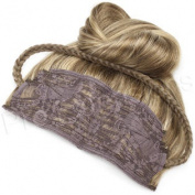 Brybelly #4/27 Choc. Brown/Dark Golden Blonde - 50cm Braided Tiara