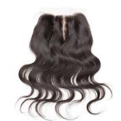 Bella Hair Brazilian Body Wave Lace Closure 1pcs(41cm 3 Part) Bleached Knots Human Virgin Hair Top Closure 4*4 Natural Co