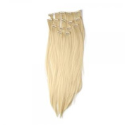 7pcs 60cm Straight Hair Extensions with Clips Beige