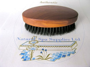 Men's Hair Brush of Wood and Boars Bristle, Military Style