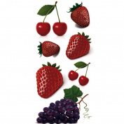 TAFLY Cherry Tattoos Fruit Non-toxic Temporary Tattoos Stickers 5 Sheets