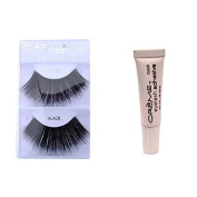 12 Pairs Creme 100% Human Hair Natural False Eyelash Extensions Black #199 Dark Full Long Lashes by Creme Eyelash