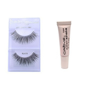 6 Pairs Creme 100% Human Hair Natural False Eyelash Extensions Black #747L Long Full Natural Lashes by Cr.........................me