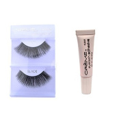 6 Pairs Creme 100% Human Hair Natural False Eyelash Extensions Black #202 Dark Full Lashes by Cr.........................me