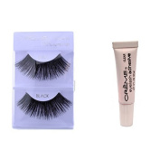 6 Pairs Creme 100% Human Hair Natural False Eyelash Extensions Black #201 Dark Full Long Lashes by Cr.........................me